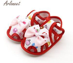 ARLONEET 2020 ребенка мальчиков девочки хлопка младенец ткань Canvas Противоскользящей обувь Bownot Sneaker мягкой подошва Малыш ткань кроватка обувь