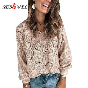 Damen Winter 2020 SEBOWEL Herbst Strickwaren Mohair P