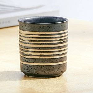Vintage Water Mug Japanese Ceramic Tea Bowl Big Volume Pottery Teacup Container Teaware Drinkware restaurant cuisine cup