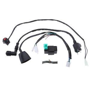 Kill Telar arnés 110-140cc interruptor bici de la suciedad de la bobina de encendido CDI Pit cableado Uwtni