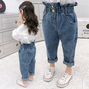 Baby Girls Jeans Autumn Winter Pants 2020 Denim Boys Clothes Kids Long Cowboy Cotton Children Trousers Teenager Clothes