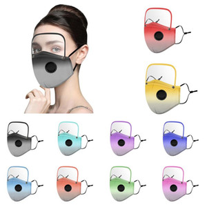10 Gradient color disassembly face masks eye protection face shield suitable for adults and children PM2.5 breathable washable masks
