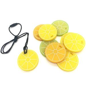 Venta al por mayor 2020 nueva e innovadora de calidad alimentaria de frutas de limón libre de BPA de silicona bebé Mordedor Teether sensoriales juguetes para la dentición