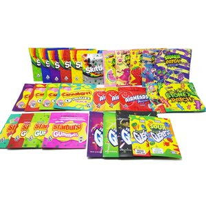Sour Mylar Taschen Leer Medicated Starburst Gummies Regenbogen Edibles Süßigkeit Gummy Regenbogen Zipper Skittles 400mg Verpackung
