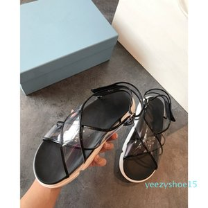 Женщины сандалии дизайнер обуви класса люкс Slide Летняя мода Широкий плоский скользкий сандалии тапочка флип-флоп размер 35-40 ming215 Y15