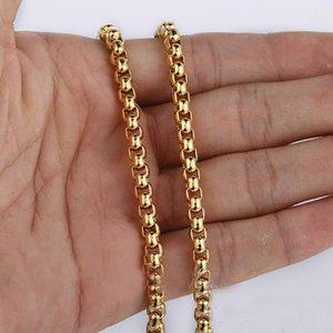 الجدة أزياء شيك عرض 3mm الذهب الفولاذ المقاوم للصدأ جولة صندوق ربط سلسلة لا تتلاشى مع الزمن للماء بالجملة