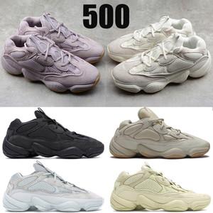 Kanye West 500 mens reflectantes zapatos para correr Soft Vision piedra hueso blanco Utilidad Negro Sal súper luna hombres amarillos mujeres las zapatillas de deporte