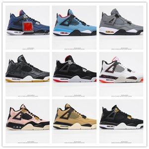 2020 New Arrival Jumpman IV 4 Hand Grip Leather Air Cushion Basketball Shoes For High Quality 4S Mens Black White Red Grey Sports Sneakers