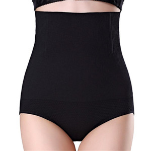 Transpirable mujeres de la alta cintura que forma las bragas transpirable Enhanced la talladora del cuerpo que adelgaza la ropa interior de la panza moldeadores de panty