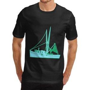 Moda Komik Tişörtler Erkek Fishin Tekne Troller Yenilikçi T- Shirt Erkekler Komik Casual Streetwear Hip Hop Baskılı T Shirt