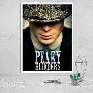 Peaky Blinders lona Poster Pintura Caligrafia pintura de parede Print Art Movie Poster Canvas Pictures para sala de estar giclée