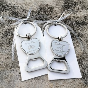 Personalizadas dos presentes de casamento para os hóspedes Garrafa Coração Wine Opener / Keychain do favor do casamento da festa de aniversário Souvenir personalizado