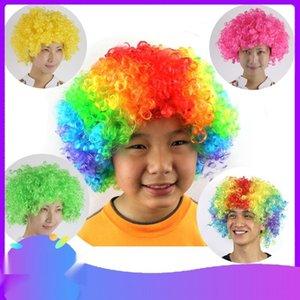 Fanlar malzemeler renkli komik Şapkalar palyaço patlayıcı baş örtüsü Fanlar parti malzemeleri renkli komik Parti peruk Şapkalar wigclown peruk Explosiv