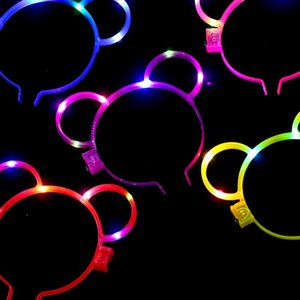 Rabbit Glow Flower Party Decoration Hair Colorful Headband Ears Spinner Glow Sticks Accessories Led Light Sticks Fidget Shape Toys Scpts