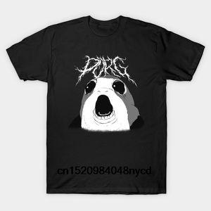 Homens Impresso T Shirt Cotton TShirt O-Neck manga curta Novo estilo PORG KVLT Porg Mulheres TShirt