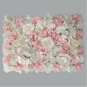 Aritificial Silk Rose Flower Wall Panels Wall Decoration Flowers for Wedding Baby Shower Birthday Party Photography Backdrop