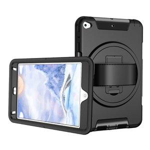 Robot Defender Case Hybrid Heavy Duty antichocs Tablet pour New iPad mini 2 3 4 5 6 Air Air2 Pro 9,7 10,2 10,5 11,0 Couverture Rotating