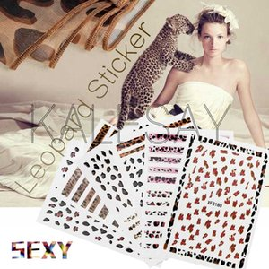 2020 Leopard Nail Art Stickers Self Adhesive Decoration Decals Manicure Design Sexy Tiger Skin Nail Art Decals Foil Sticker