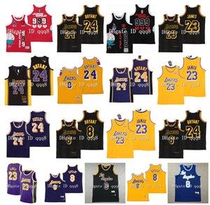 NCAA Los Angeles 8 24 BRYANT Mamba Jersey LeBron James 23 JUS WRLD # 999 Jersey 100% Cousu Basketball Jersey