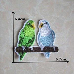 New Arrival cartoon parrot patches embroidery applique clothes sewing patch DIY badge patch accessories 50pcs sell Free Shipping