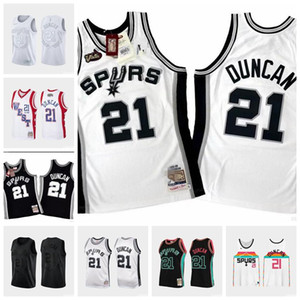 Hombres San AntonioEspuelasTim Duncan 21 Mitchell Ness 1998-1999 auténtico Jersey