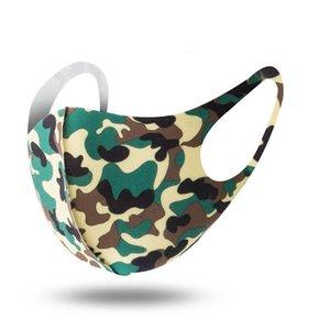Maschere per il viso Camouflage anti-polvere del vento Protect del ghiaccio del cotone di seta Bocca lavabile traspirante Cyling protettivo biciclette Mask Dhb272 Rite #