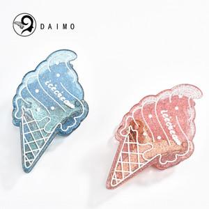 srwQT DAIMO Корейский стиль моды волосы Headdress мороженое сцепление мороженое акрил сцепление фея клип головной убор волосы