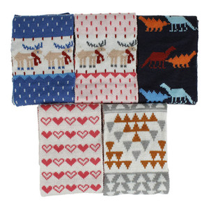 Christmas baby scarf cotton cartoon Kids Scarf Autumn Winter Knitted Crochet Kids Scarves Children Scarves Baby Scarves Kids Ring B2138