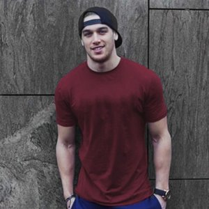 2020 Casual Mens T Shirts for Summer with Printed Fashion Solid Color Men T Shirt High Quality Mens Streetwear Tees Size M-2XL