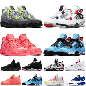 2021 Top Quality Jumpman 4 4s Royalty New Bred Neon LA X Analyzes Mens WomensLuxuryBasketball ShoesTrainers Sports Sneakers Size US 13