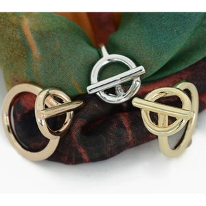 3 Stück Frauen Copper Silk Chiffon-Schal Clip Ring Hochzeit Buckle Ring