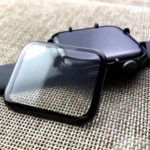 منحني غطاء كامل حامي الشاشة ل iwatch 6 SE 5 4 3 PMMA مرنة secreenprotector 38 40 42 44 ملليمتر هواوي سامسونج Xiaomi ووتش