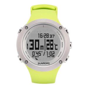 SUNROAD 2020 nueva llegada de buceo reloj de los hombres del altímetro del compás de buceo Profundidad 100M impermeable Altitud podómetro digital de pulsera