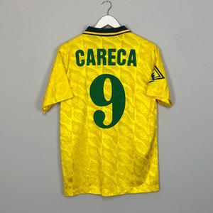 레트로 브라질축구 유니폼 호나우두 베 베토 Careca Ronaldinho Kaka Romário Robinho Rivaldo Ronaldinho Vintage Shirt 클래식 브라질 키트