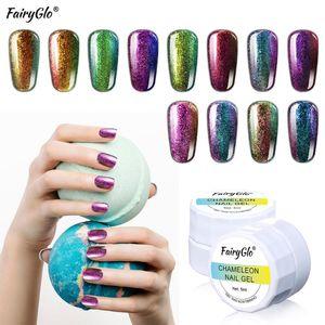 FairyGlo 5ML Chameleon Gel Varnish UV LED Gel Nail Polish Long Last Nail Art Soak Off Vernis Semi Permanant Gellak Paint Esmalte