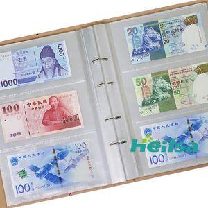 Fogli portavaluta denaro Kraft copertura Collection 240 Album 80p Banconote Protezione carta 24,5 * 34,5 centimetri Prenota 40 bbyDS Collecting