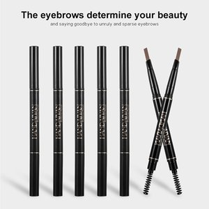 Dual-ends Rotatable Eyebrow Pencil Triangle Waterproof Long Lasting Eyebrow Tattoo Paint Natural Double Heads Design Beauty Cosmetic