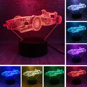 Tischlampe Supersportwagen Nacht 3D Illusion Lampara Farbe 7, die Touch-Sensor-Kind-Kind-Geschenk-LED-Nachtlicht-Auto