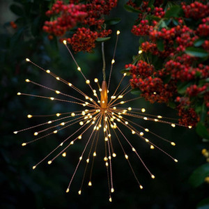 Fireworks Solar String Lights 200 LED Solar Lamp 8 Mode LED Lights Remote Control Decoration XMAS Light for Party Christmas Free shipping