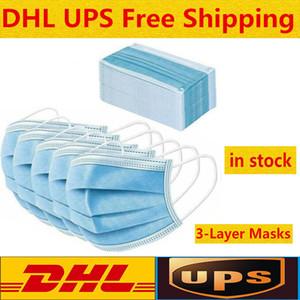 En stock bienvenue à l'ordre Masque jetable anti-poussière 3 couches visage bouche Masque masques antipoussière Visage 3-Ply