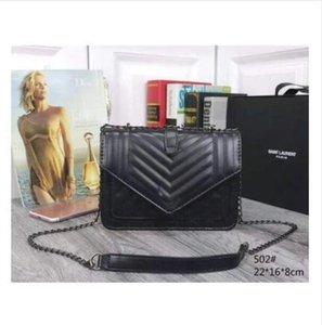 Borsa delle donne della spalla modo di alta qualità dell'unità di elaborazione borsa d'argento in pelle oro e catena scheggia Crossbody Messenger Sacchetto femminile handbagwallet 6colorsF2