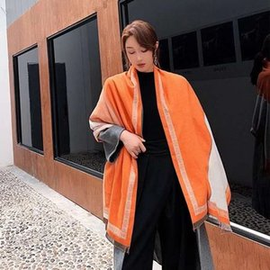 20 Designer winter cashmere scarf Pashmina men's and women's fashion double wear thermal blankets scarves scarves cashmere cotton