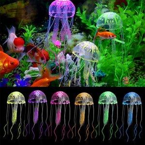 1Pcs bella silicone medusa artificiale di stile di nuotata incandescente effetto Fish Tank Decorazione Acquario Picc colore casuale