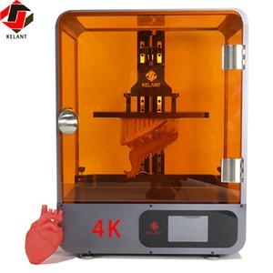 """Kelant S500 4K LCD الراتنج 3D الطابعة 8.9 """"طابعات 3D الأشعة فوق البنفسجية SLA impresora عدة ديي السامي سرعة الطباعة size192 * 120 * 200MM"""