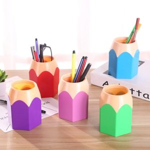 Cute POP Creative Pen Holder Vase Color Pencil Box Makeup Brush Stationery Desk Set Tidy Design Container Gift Storage Supplies SN1831
