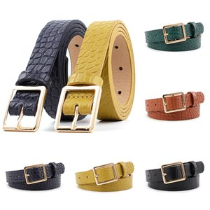 New Fashion Women Waist Belt Leather Pattern Square Buckle Belt Casual Wild the women Dress Jeans Waist