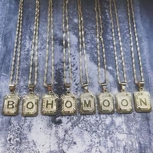 Hip Hop A-Z Initial Letters Pendant Necklace 26 Alphabet Charm for Women Men Friendship Love Letter Statement Necklaces Punk Jewelry Gift