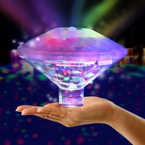 수중 라이트 RGB 잠수정 LED 디스코 파티 빛 발광 표시 수영장 온수 욕조 스파 램프 아기 목욕 빛 부동