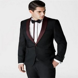 Classic tuxedos groom wedding Peak Lapel men suits mens wedding suits tuxedo costumes de pour hommes men(Jacket+Pants+Tie) Y294