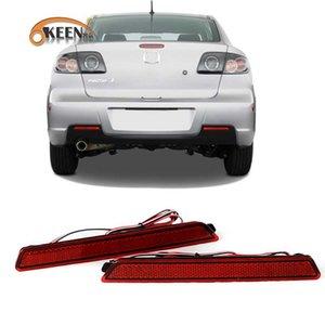 2Pcs For for 2 3 6 2003-2009 LED Rear Bumper Reflector Light Car Accessories Red Brake Lights LED Night Driving Fog Lamp
